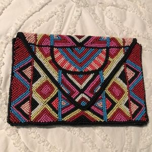 Beaded BCBG Generation Envelope Clutch